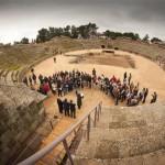 Lucha de gladiadores en el anfiteatro de Mérida