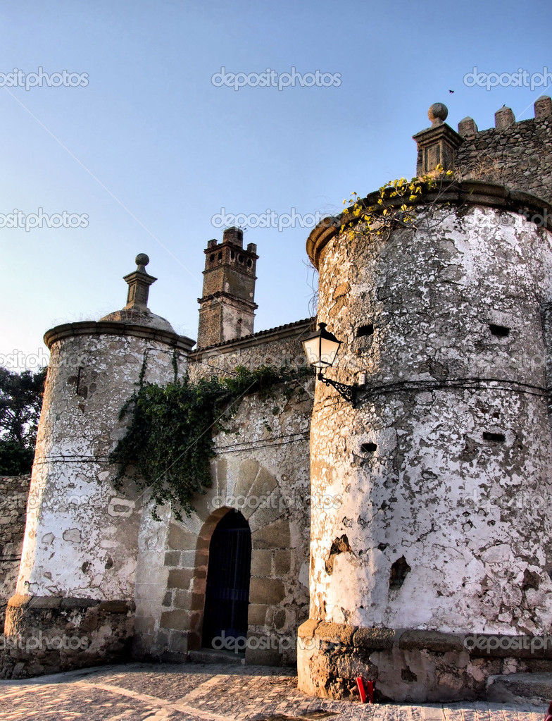 Brozas fortress in Extremadura, Spain